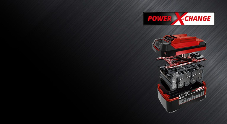 The Einhell Power X-Change battery pack consists of several powerful components.